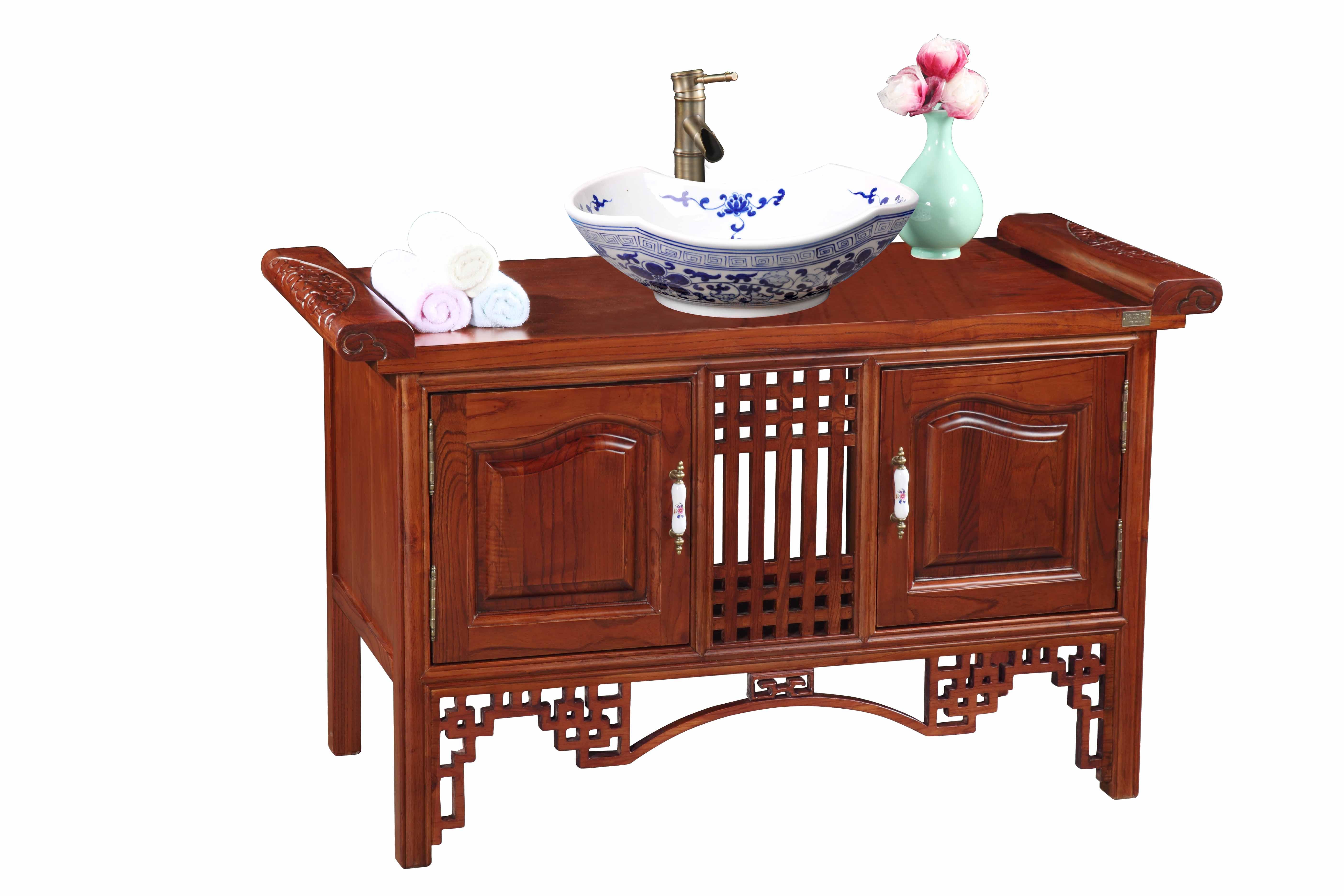 沐本源 木质台面e1级简约现代 308浴室柜