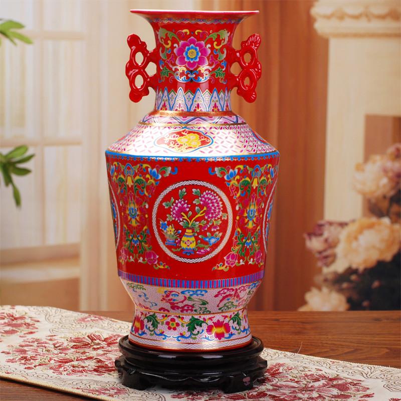 景勤陶瓷台面花瓶中号简约现代花瓶