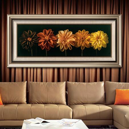 尚尚木莲平面韩国进口高档框料有框独幅横幅印刷装饰画