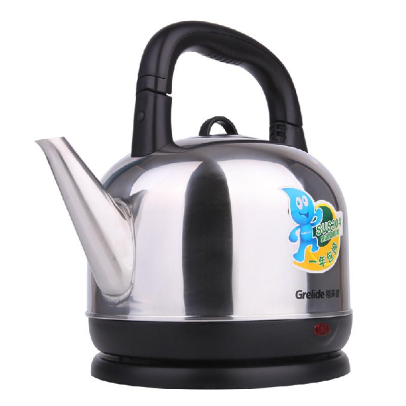 格来德银色双重陶瓷温控器不锈钢普通电热水壶底盘加热电水壶