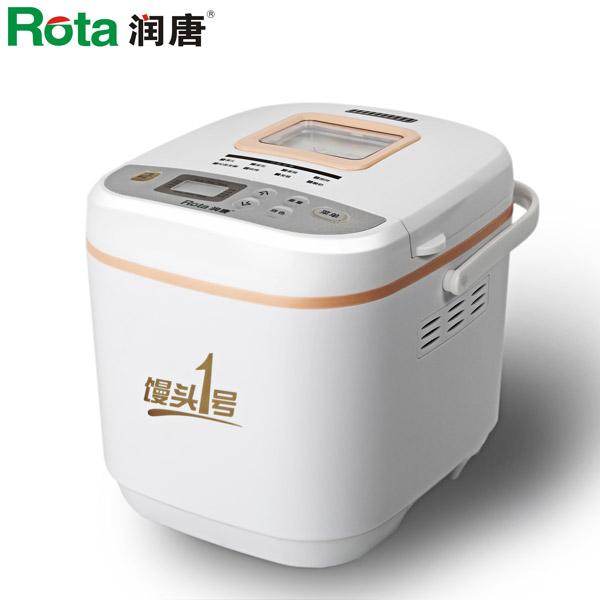 潤唐 白色單攪拌葉片塑料電熱管加熱電腦式 RTBR201面包機