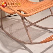 纸藤框架结构拆装抽象图案成人田园 藤椅