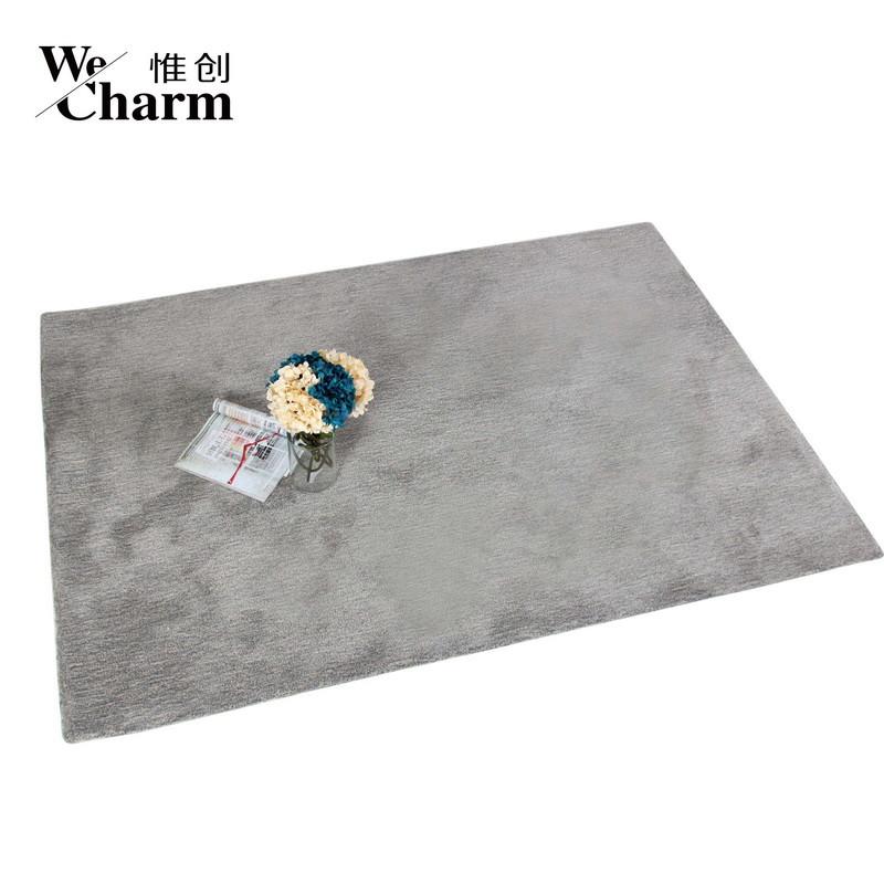惟创 浅灰色化纤简约现代腈纶长方形中国风手工织造 地毯