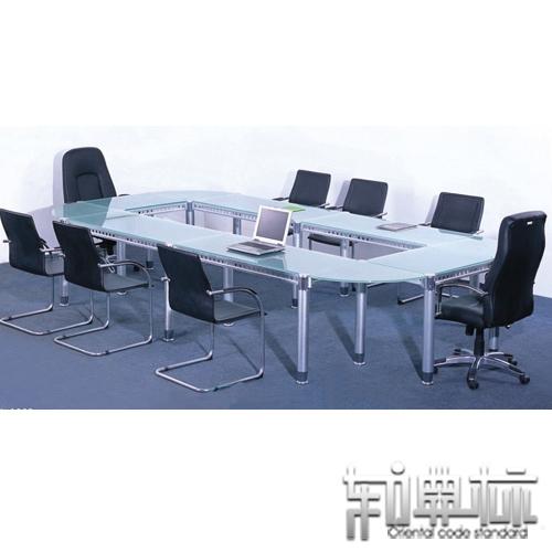 东方典标 玻璃自由组合可拆卸移动椭圆形 会议桌价格