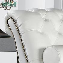真皮皮革桦木海绵欧式 贵妃椅