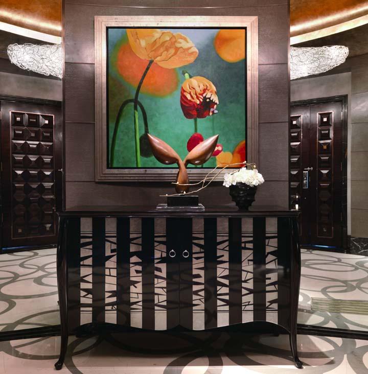 御匠壹号 黑色钢琴漆 银箔玄关柜实木皮饰面框架结构橡木移动新古典 壁炉价格,图片,品牌信息 齐家网产品库