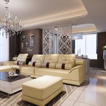 真皮L形木质工艺储藏海绵艺术简约现代 沙发