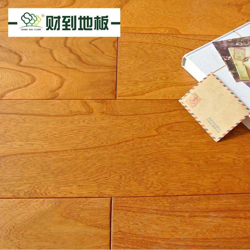 财到 榆木松木平口杨木A类实木复合春日阳光地板 地板
