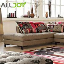 花色人造板L形植绒密度板/纤维板木质工艺车床绒质海绵艺术简约现代 沙发