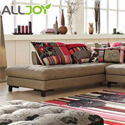 Alljoy 花色人造板L形植绒密度板/纤维板木质工艺车床绒质海绵艺术简约现代 沙发