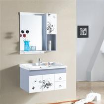 PVC板一体陶瓷盆E0级现代中式 浴室柜