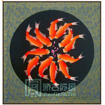 平针绣艺术品装饰现代中式 ZSH00156刺绣