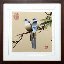平针绣艺术品装饰简约现代 宋人花鸟1刺绣