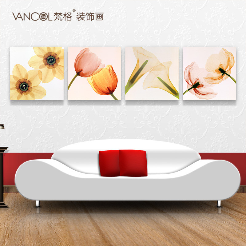 梵格平面无框艺术微喷(单幅价格)植物花卉喷绘装饰画