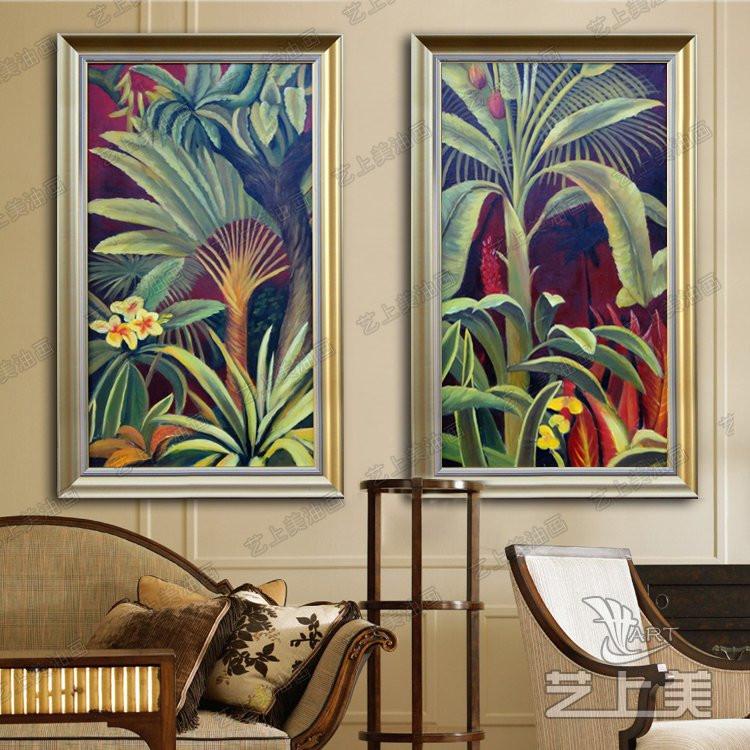 艺上美纯手绘立体有框风景油画