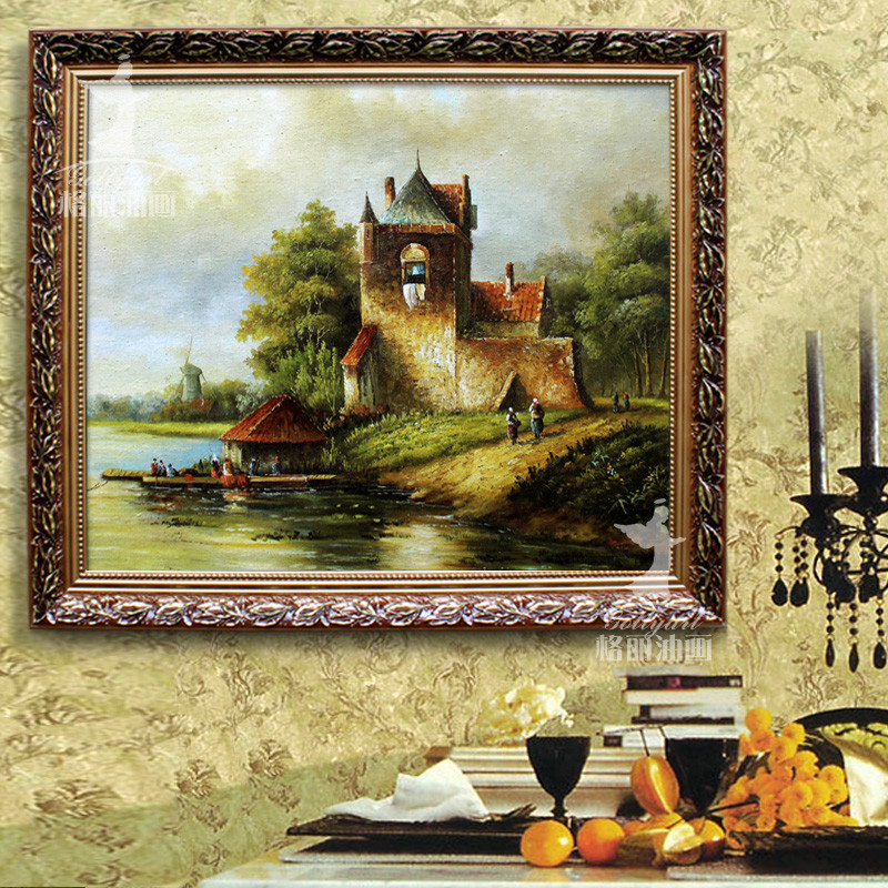 立体有框单幅静物手绘乡村生活油画