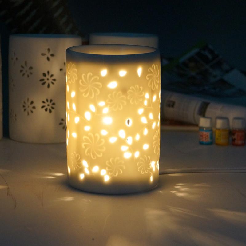 美甚 陶瓷用電香薰爐除味/除濕 帶線香薰燈熏香