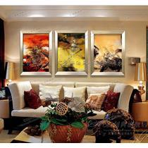 如图立体有框单幅抽象图案手绘 zwj019油画