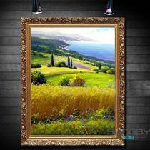 高档实木外框立体有框单幅风景手绘 sp3302油画