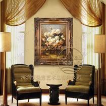 立体有框横幅竖幅植物花卉手绘 油画