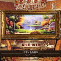 平面布面有框风景手绘 SX202油画