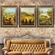 无框有框风景手绘 油画