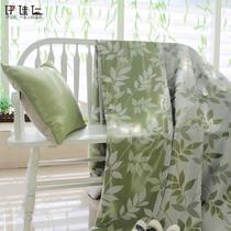 布遮光聚酯纤维叶子欧式 窗帘