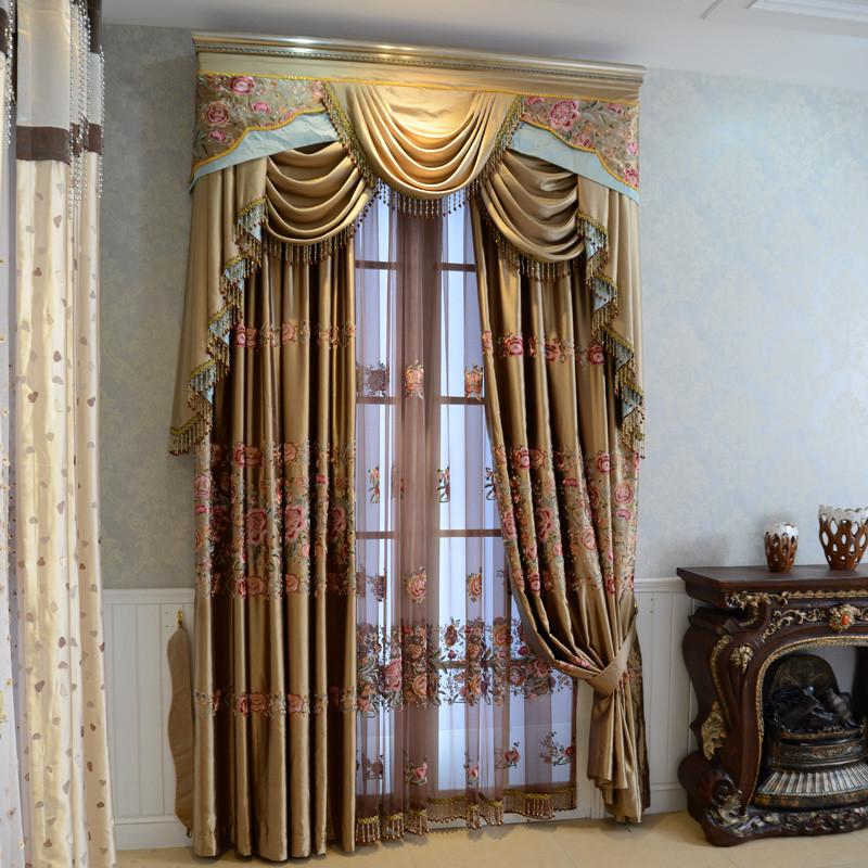 雅熙莱帝纱每米布每米布帘纱帘装饰半遮光平帷荡度镀膜纤维涤纶混纺欧式-窗帘