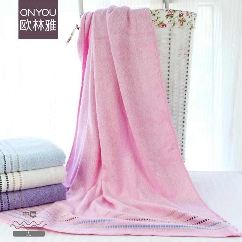 偏偏喜欢你 蓝色紫色白色粉红色竹纤维 浴巾
