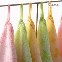 黄色红色绿色纯棉</=5s方巾情侣 方巾