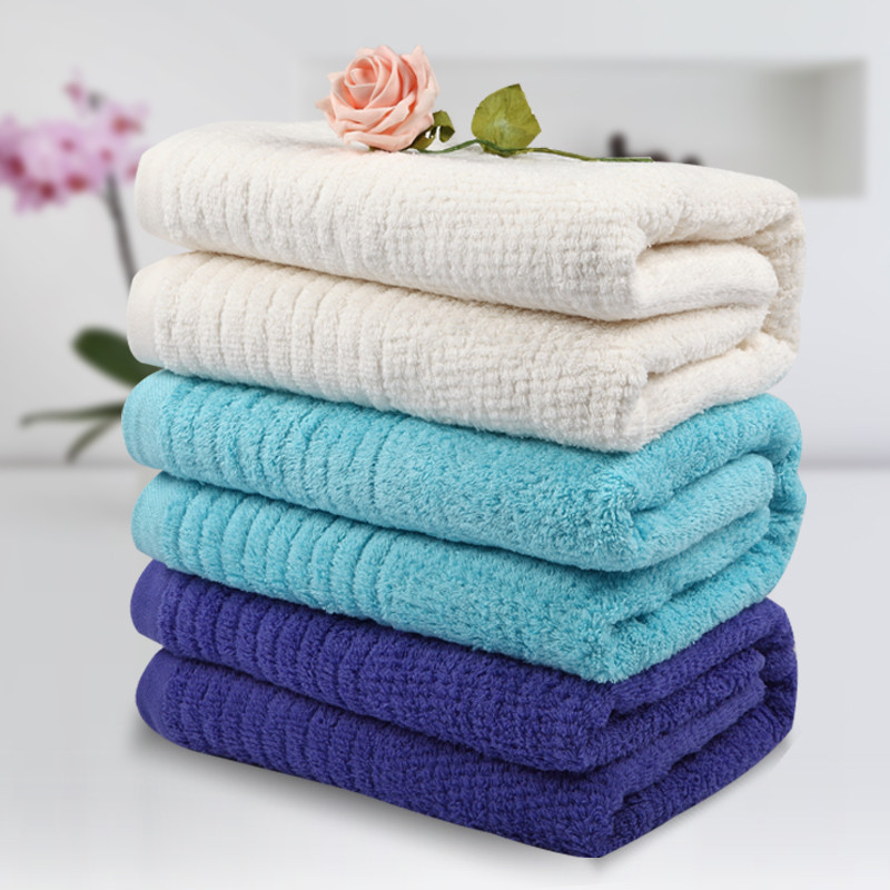 雪仑尔 紫魅色米白色天蓝色纯棉 浴巾