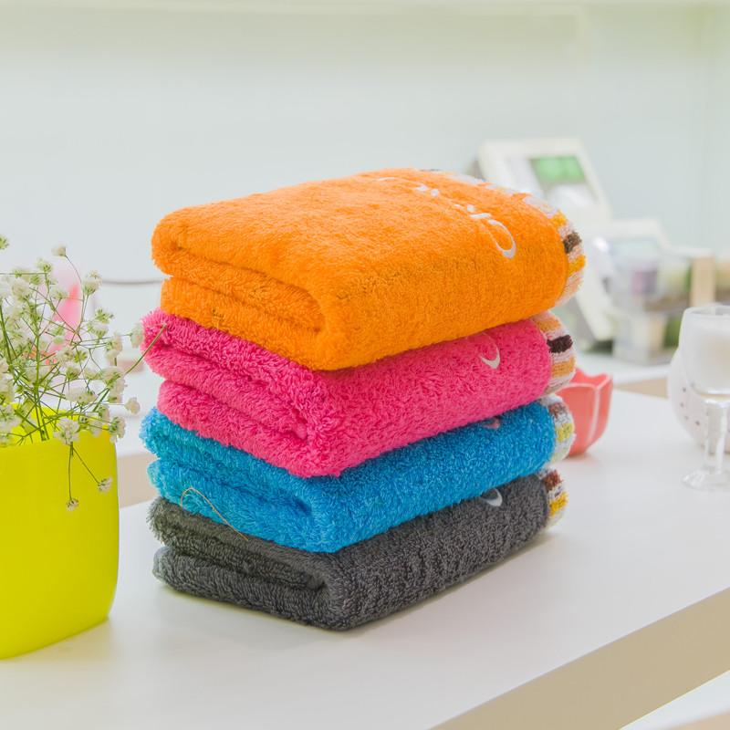 洁丽雅 四条装每色一条纯棉面巾百搭型 毛巾