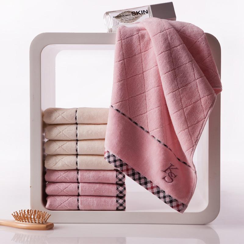 金号紫棕各两条纯棉<=面巾百搭型毛巾