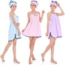 浅紫色浅粉红色浅蓝色均码女 浴袍