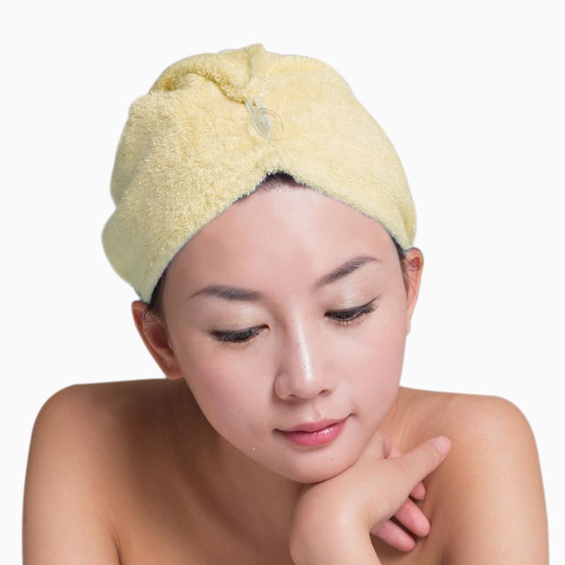 竹天帛 粉色淺黃色天藍色個人洗漱/清潔/護理通用 干發巾