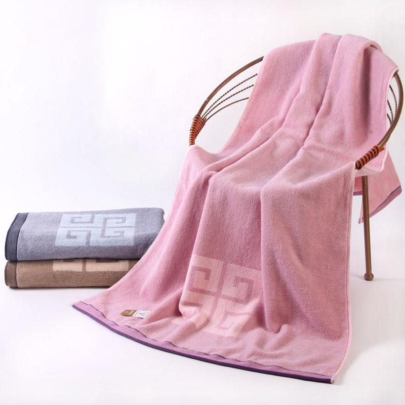 金號 棕色紫色灰色純棉 浴巾