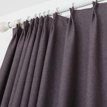 布装饰+全遮光混纺纯色普通打褶打孔帘简约现代 WDB3303-01窗帘