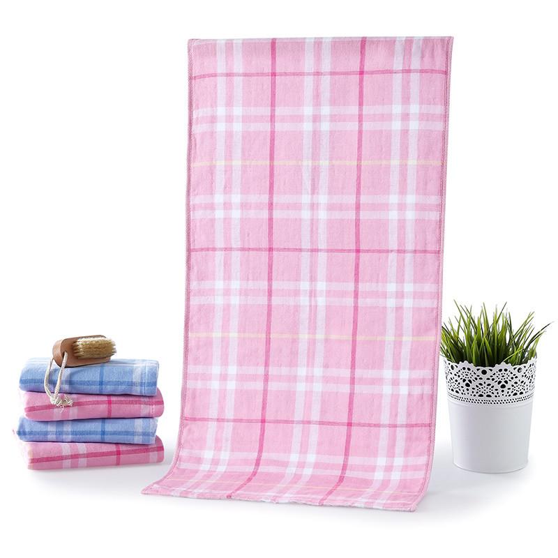 亚光 粉色蓝色纯棉面巾百搭型 毛巾