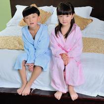 黄色蓝色粉红色浅绿色儿童 浴袍