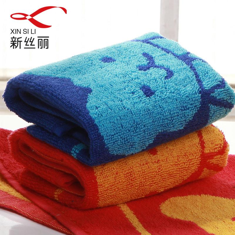 新丝丽纯棉<=童巾百搭型方格毛巾