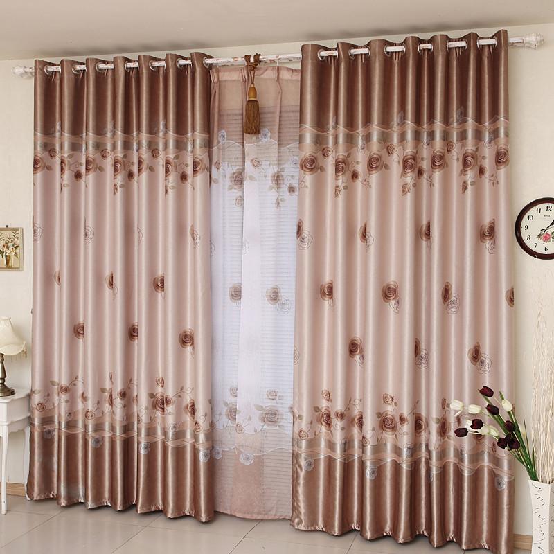 窗之侣布帘纱帘装饰全遮光混纺植物花卉叶子条纹圆圈简约现代窗帘