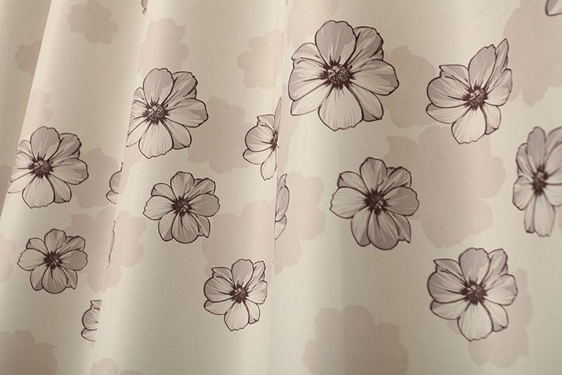 恋帘布舍#纱#布布帘纱帘装饰全遮光平帷涤纶混纺植物花卉草叶子风景韩式窗帘
