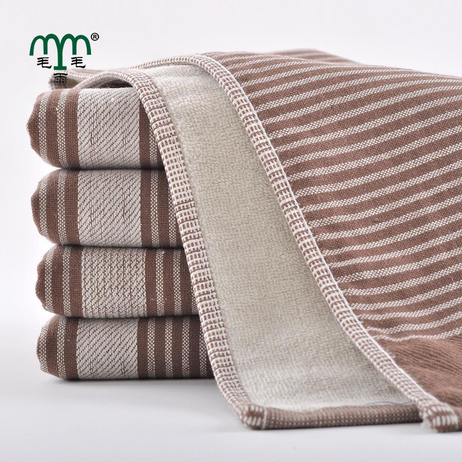 毛毛雨灰色咖啡纯棉<=洁面美容毛巾百搭型毛巾