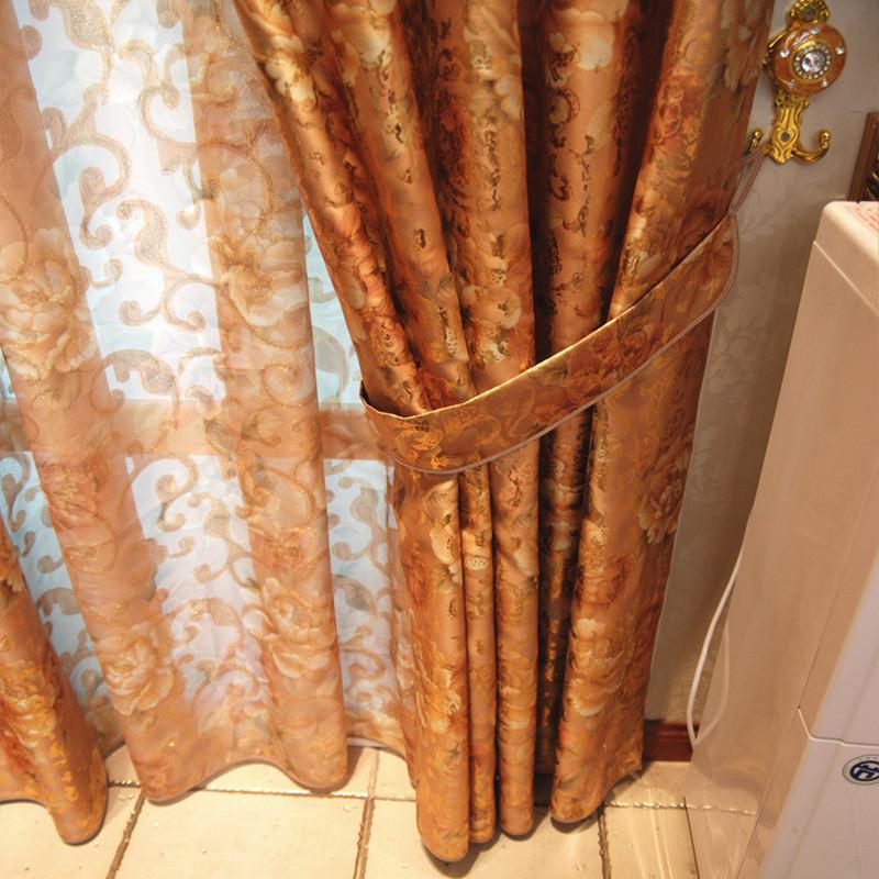 雅熙莱帝纱每米布每米布帘纱帘遮光平帷荡度阳离子涤纶混纺欧式窗帘