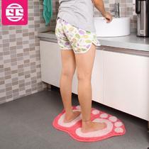 绒面卫浴卡通动漫简约现代机器织造 地垫