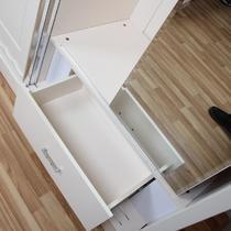 哑光密度板/纤维板移动吊滑移门成人韩式 衣柜