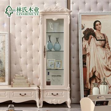 林氏木业 人造板密度板/纤维板储藏欧式 酒柜