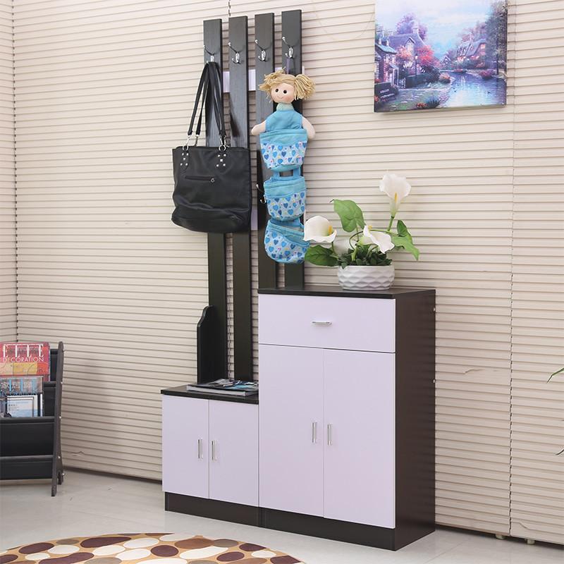 萱豪家具 刨花板/三聚氰胺板框架结构多功能田园 鞋柜