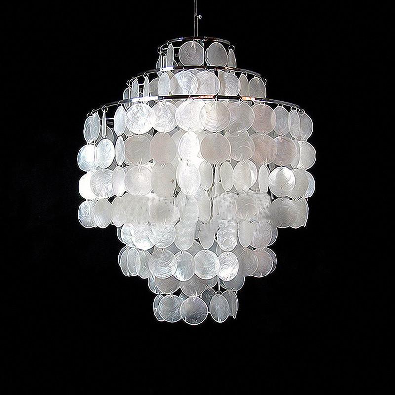 维玛贝壳不锈钢田园镀铬白炽灯节能灯吊灯