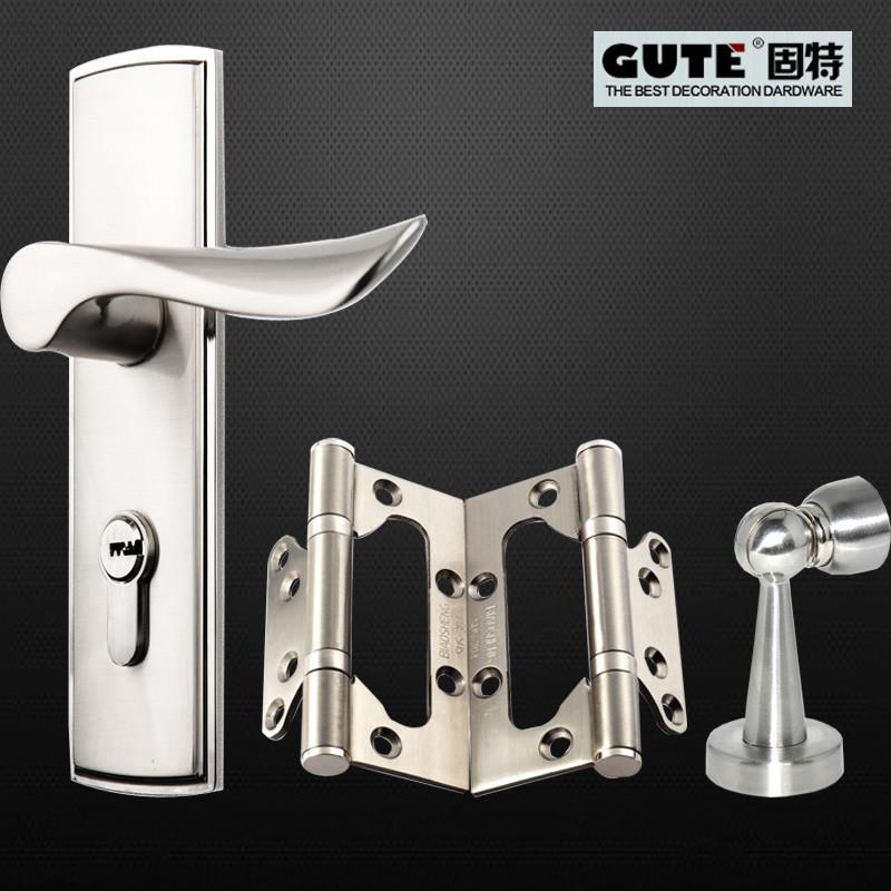 固特 通用型锁室内门锌包铜斜舌 锁具